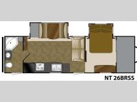 Floorplan - 2014 Heartland North Trail 26BRSS King