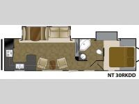 Floorplan - 2014 Heartland North Trail 30RKDD King