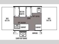 Floorplan - 2014 Forest River RV Flagstaff MAC LTD Series 176LTD