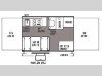 Floorplan - 2014 Forest River RV Flagstaff MAC LTD Series 205