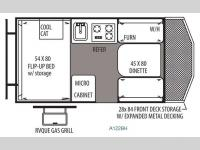 Floorplan - 2014 Forest River RV Rockwood Hard Side Series A122BH