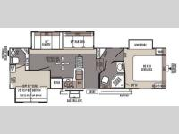 Floorplan - 2014 Forest River RV Flagstaff Classic Super Lite 8528BHWS