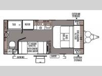 Floorplan - 2014 Forest River RV Flagstaff Micro Lite 19FD