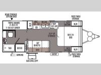 Floorplan - 2014 Forest River RV Flagstaff Micro Lite 23LB