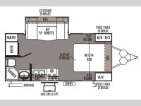 Floorplan - 2014 Forest River RV Rockwood Mini Lite 2104S