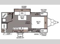 Floorplan - 2014 Forest River RV Rockwood Mini Lite 2109S
