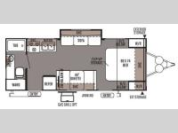Floorplan - 2014 Forest River RV Rockwood Mini Lite 2502S