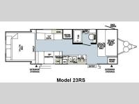 Floorplan - 2014 Forest River RV Rockwood Roo 23RS