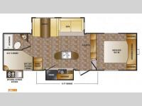 Floorplan - 2014 CrossRoads RV Sunset Trail Super Lite SF270BH