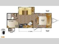 Floorplan - 2014 CrossRoads RV Sunset Trail Super Lite ST240BH