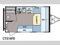 Floorplan - 2014 Dutchmen RV Coleman Expedition CTS14FD LT