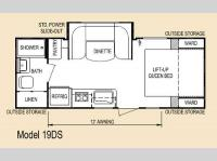 Floorplan - 2014 Skyline Eco Camp 19DS