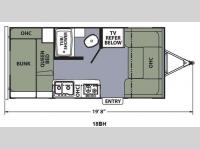 Floorplan - 2014 Coachmen RV Apex Ultra-Lite 18BH