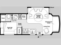 Floorplan - 2007 Winnebago Aspect 26A