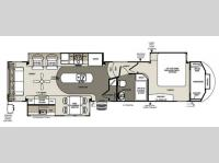 Floorplan - 2014 Forest River RV Sandpiper 35ROK