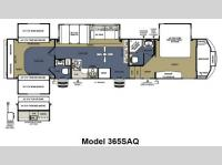 Floorplan - 2014 Forest River RV Sandpiper 365SAQ