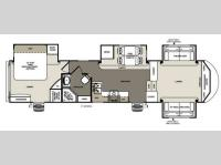 Floorplan - 2014 Forest River RV Sandpiper 366FL