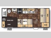 Floorplan - 2014 Forest River RV Cherokee Grey Wolf 17BH