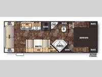 Floorplan - 2014 Forest River RV Cherokee Grey Wolf 25RL