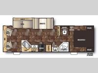 Floorplan - 2014 Forest River RV Cherokee Grey Wolf 26RL
