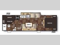 Floorplan - 2014 Forest River RV Cherokee Grey Wolf 27BHKS