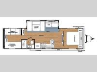 Floorplan - 2014 Forest River RV Salem 30KQBSS