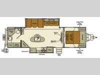 Floorplan - 2014 EverGreen RV Ever-Lite 29KIS