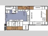 Floorplan - 2007 Northwood Arctic Fox 990 Wet or Dry