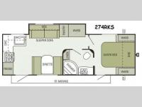 Floorplan - 2014 Starcraft  Travel Star 274RKS