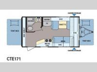 Floorplan - 2014 Dutchmen RV Coleman Explorer CTE171