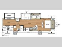 Floorplan - 2014 Forest River RV Salem Hemisphere Lite 312QBUD