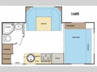 Floorplan - 2014 Lance Travel Trailers 1685