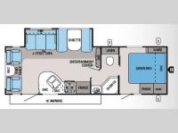 Floorplan - 2014 Jayco White Hawk 27DSRL