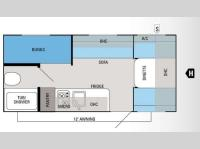 Floorplan - 2014 Jayco Jay Flight Swift SLX 184BH