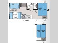 Floorplan - 2014 Jayco Jay Flight Swift 198RD