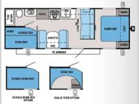 Floorplan - 2014 Jayco Jay Flight 26BH