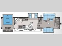 Floorplan - 2014 Jayco Pinnacle 38FLFS