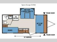 Floorplan - 2014 KZ Spree Escape E196S