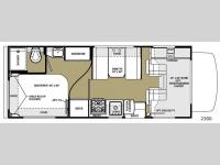 Floorplan - 2014 Forest River RV Sunseeker 2300 Ford