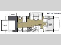 Floorplan - 2014 Forest River RV Sunseeker 2500TS Chevy