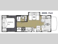 Floorplan - 2014 Forest River RV Sunseeker 2650S Ford