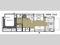 Floorplan - 2014 Forest River RV Sunseeker 3050S Ford
