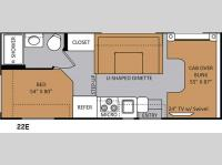 Floorplan - 2014 Thor Motor Coach Four Winds 22E