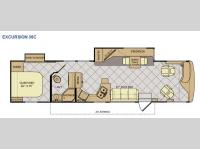 Floorplan - 2014 Fleetwood RV Excursion 35C