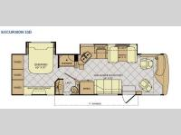 Floorplan - 2014 Fleetwood RV Excursion 33D