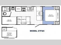 Floorplan - 2014 Palomino Canyon Cat 27FQC