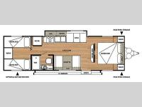 Floorplan - 2014 Forest River RV Salem Cruise Lite 281QBXL