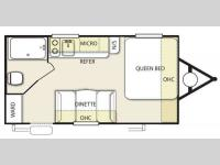Floorplan - 2014 Forest River RV Stealth EVO 185RB