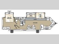 Floorplan - 2014 Forest River RV V-Cross Platinum 32VFKS