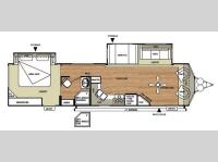 Floorplan - 2014 Forest River RV Salem Villa Series 353FLFB Classic